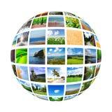 Collage de muchas fotos Foto de archivo