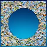 Collage de muchas fotos Foto de archivo libre de regalías