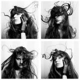 Collage de mujeres hermosas Fotos de archivo libres de regalías