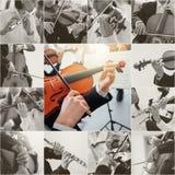 Collage de musique classique image stock
