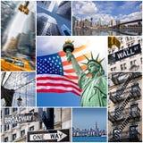Collage de New York City Imagen de archivo libre de regalías