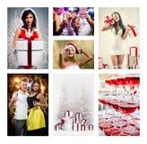 Collage de Noël Image libre de droits