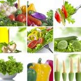 Collage de nourriture Image libre de droits