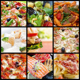 Collage de nourriture Photos stock