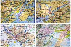 Collage de Nueva York de los mapas Fotografía de archivo