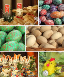 Collage de Pâques Image stock