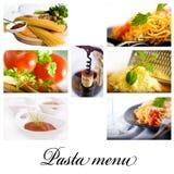Collage de pâtes photos stock