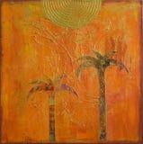 Collage de palmier Photographie stock libre de droits