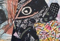 Collage de papel pintado a mano imagenes de archivo