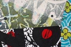 Collage de papel pintado a mano Imagen de archivo