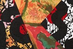 Collage de papel pintado a mano Fotografía de archivo libre de regalías