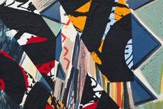Collage de papel pintado a mano Imágenes de archivo libres de regalías