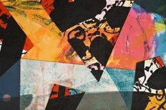 Collage de papel pintado a mano foto de archivo