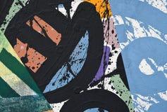 Collage de papel pintado a mano foto de archivo libre de regalías