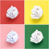 Collage de papeles arrugados blanco Imagenes de archivo