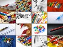 Collage de papeterie image libre de droits
