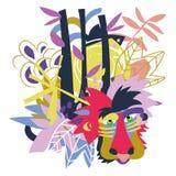 Collage de papier d'éléments floraux abstraits Photographie stock libre de droits
