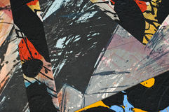 Collage de papier peint à la main Images libres de droits
