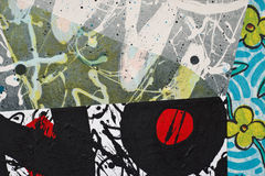 Collage de papier peint à la main Image stock
