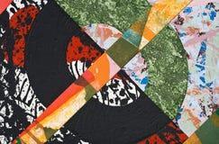 Collage de papier peint à la main Photographie stock