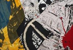 Collage de papier peint à la main Photo libre de droits