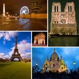 Collage de París Fotografía de archivo libre de regalías