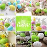 Collage de Pascua fotografía de archivo