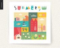 Collage de paysage d'été d'Idillic Photos libres de droits