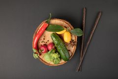 Collage de photo avec de divers fruits et légumes photos stock