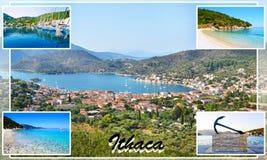 Collage de photo d'Ithaca Grèce Images libres de droits