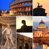 Collage de photo de Rome Photos libres de droits