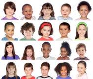 Collage de photo des enfants Photo libre de droits