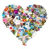 Collage de photo sous forme de coeur photographie stock libre de droits