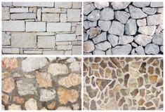 Collage de piedra de la textura del fondo Imágenes de archivo libres de regalías