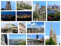 Collage de Pittsburgh foto de archivo