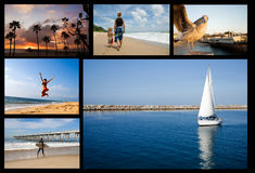 Collage de plage de vacances Photographie stock libre de droits