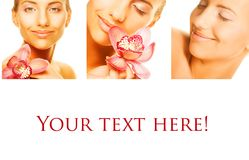 Collage de plusieurs photos pour la beauté Image stock