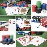 Collage de poker Arkivfoton