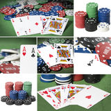Collage de poker Stock Photos