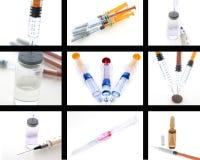 Collage de productos médicos Fotografía de archivo