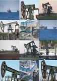 Collage de puits de pétrole image stock