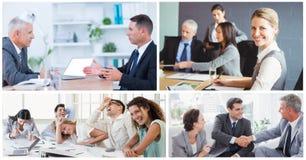 Collage de réunion d'affaires de travail d'équipe image libre de droits