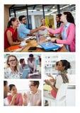 Collage de réunion de travail d'équipe photo stock