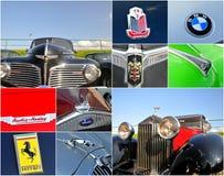 Collage de rassemblement de véhicule d'Oldtimer Image stock