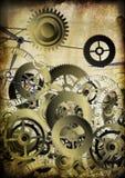 Collage de relojes en fondo de la vendimia Foto de archivo