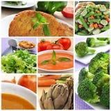 Collage de repas de Vegan photographie stock