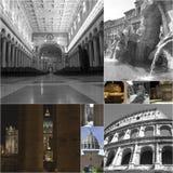 Collage de Rome Photo libre de droits