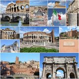 Collage de Rome Image stock