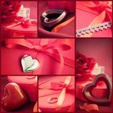 Collage de rouge du jour de Valentine Photo stock