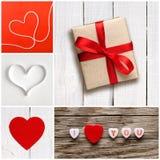 Collage de Saint-Valentin des photos Photo libre de droits